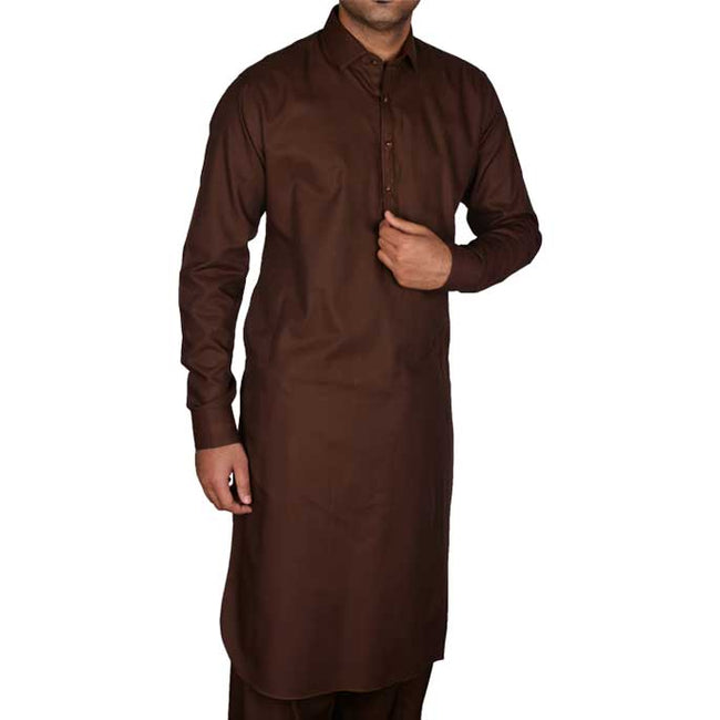 Formal Shalwar Suit for Men EG2311-D-BROWN