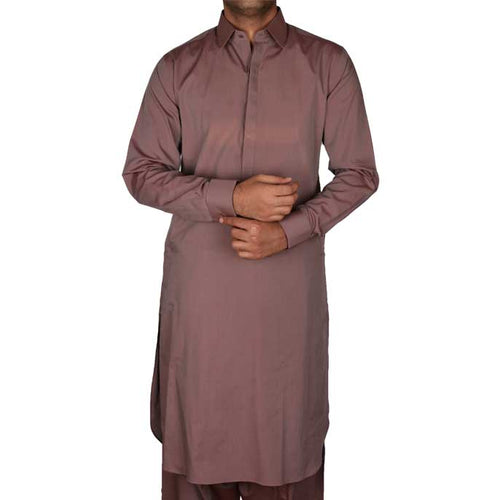Formal Shalwar Suit for Men EG2322-L-BROWN