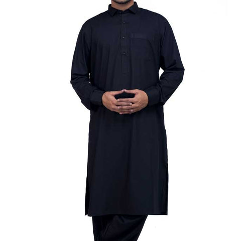 Formal Shalwar Suit for Men (EG2327-Black)