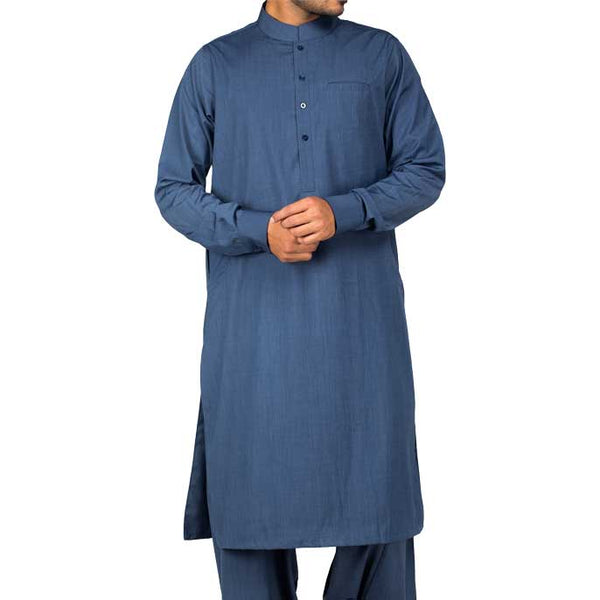 Formal Shalwar Suit for Men (EG2356-D-BLUE)