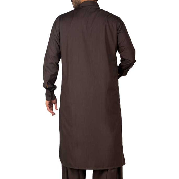 Formal Shalwar Suit for Men (EG2356-D-Brown)