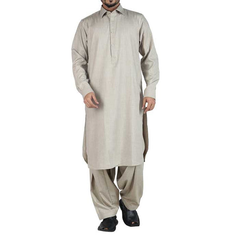 Formal Shalwar Suit In Fawn SKU: EG2362-Fawn