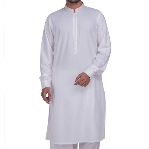 Formal Shalwar Suit for Men (EG2374-WHITE)