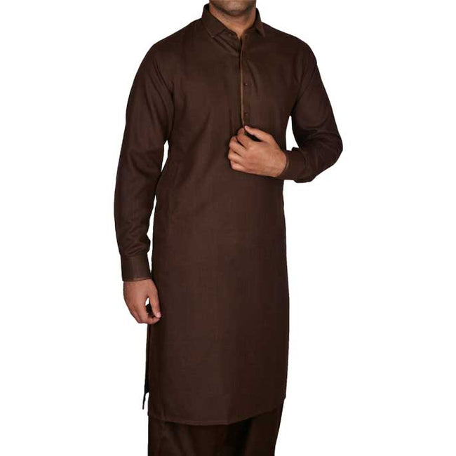 Formal Shalwar Suit for Men EG2461-BROWN