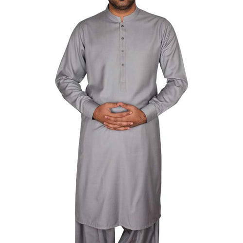 Formal Shalwar Suit for Men SKU: EG2497-L-GREY