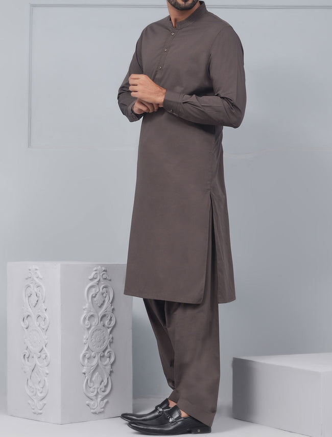 Formal Shalwar Suit for Men (EG2546-D-BROWN)