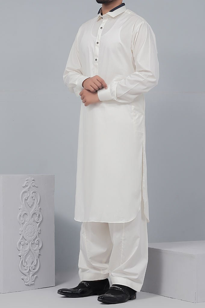 Formal Shalwar Suit for Man (EG2551-CREAM) - Diners