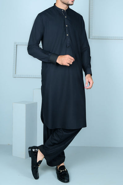 Formal Shalwar Suit for Men (EG2566-BLACK)
