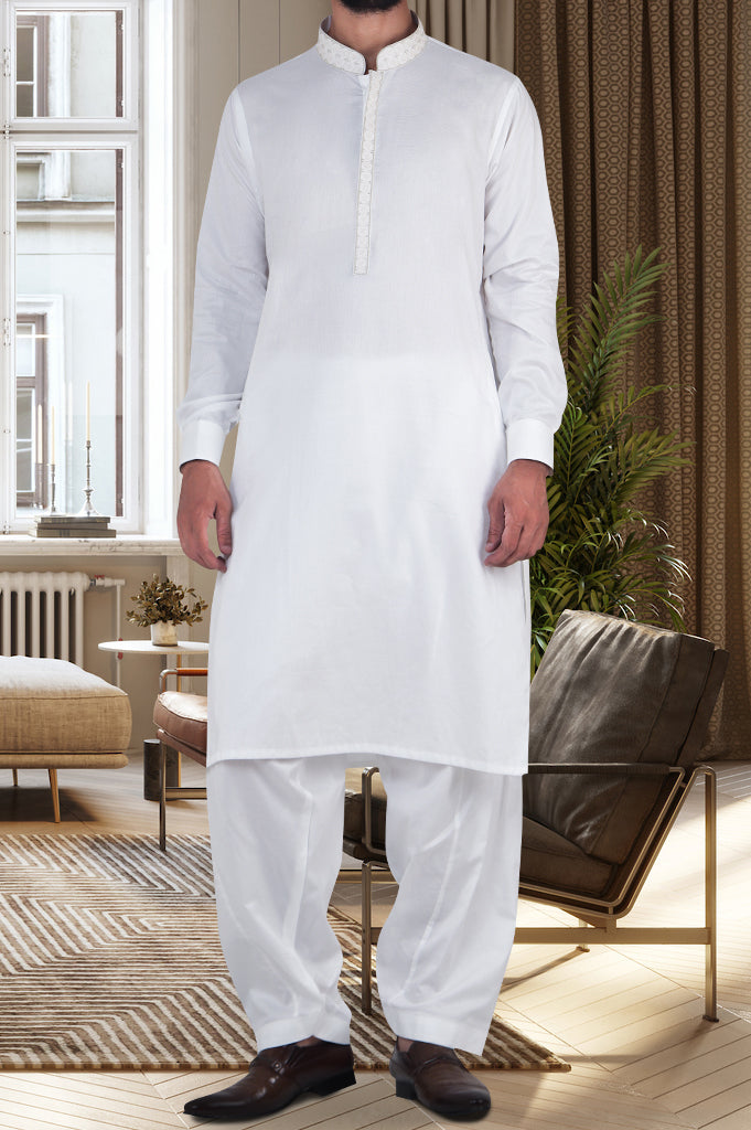 Formal Shalwar Suit for Men (EG2604-Off-WHITE) - Diners