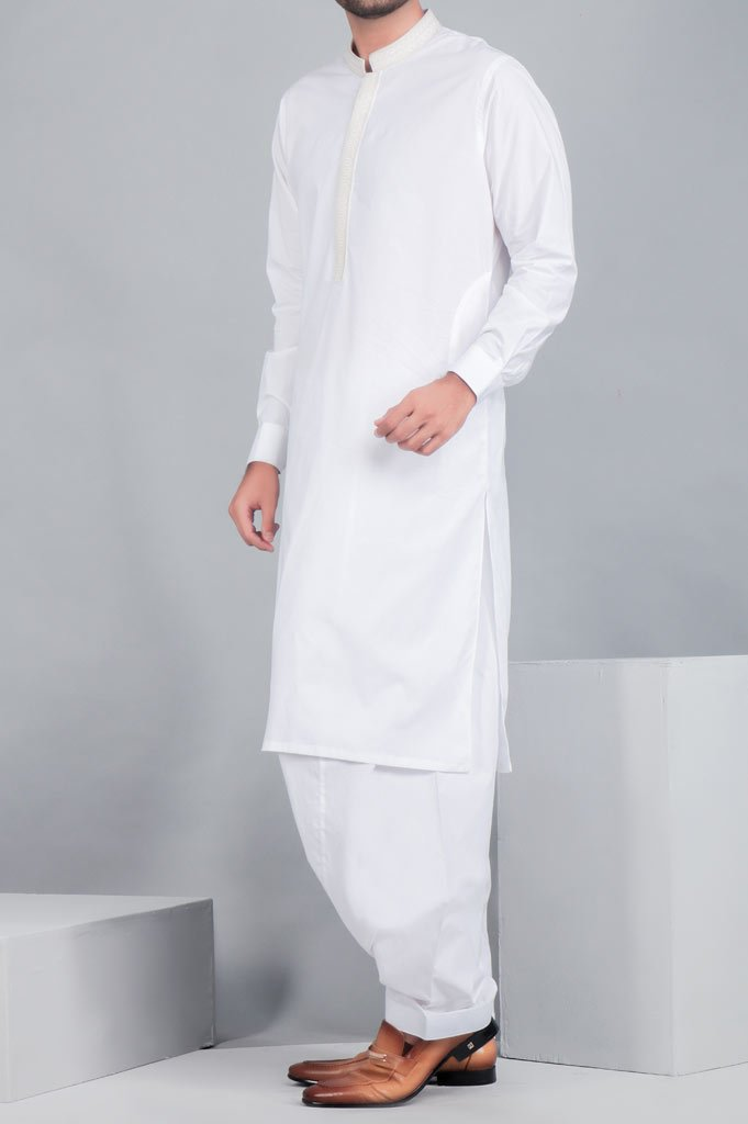 Formal Shalwar Suit for Man (EG2611-WHITE) - Diners