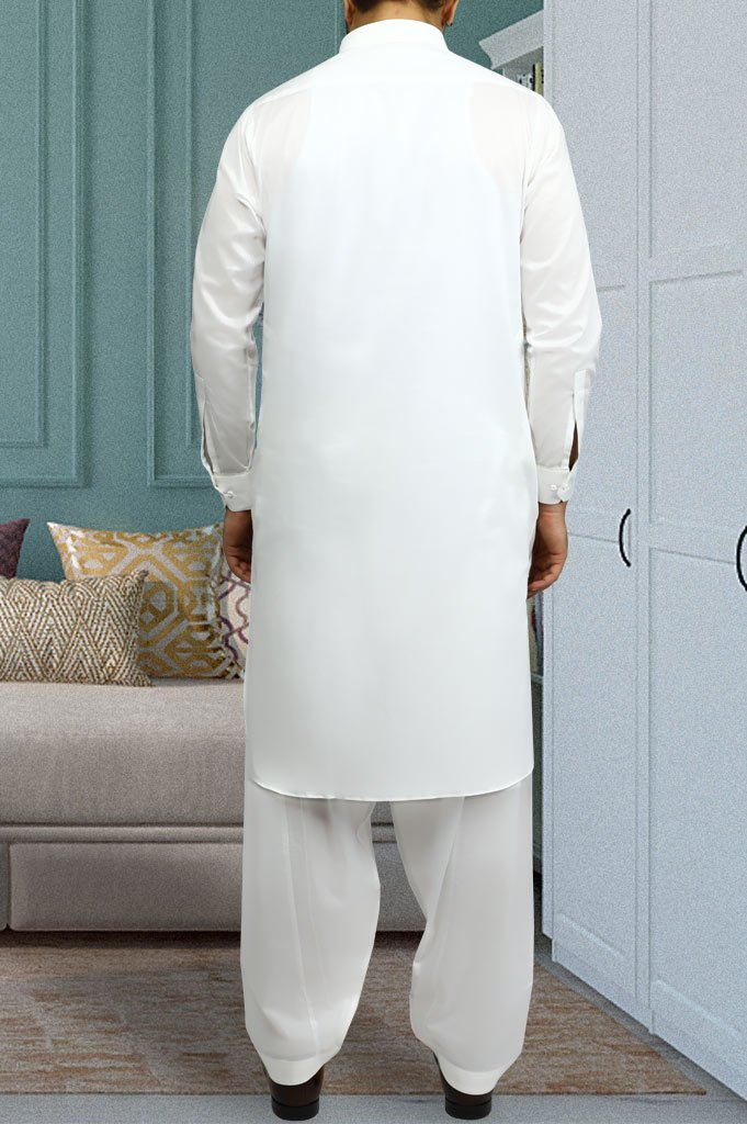 Formal Shalwar Suit for Man EG2623-Off-White - Diners