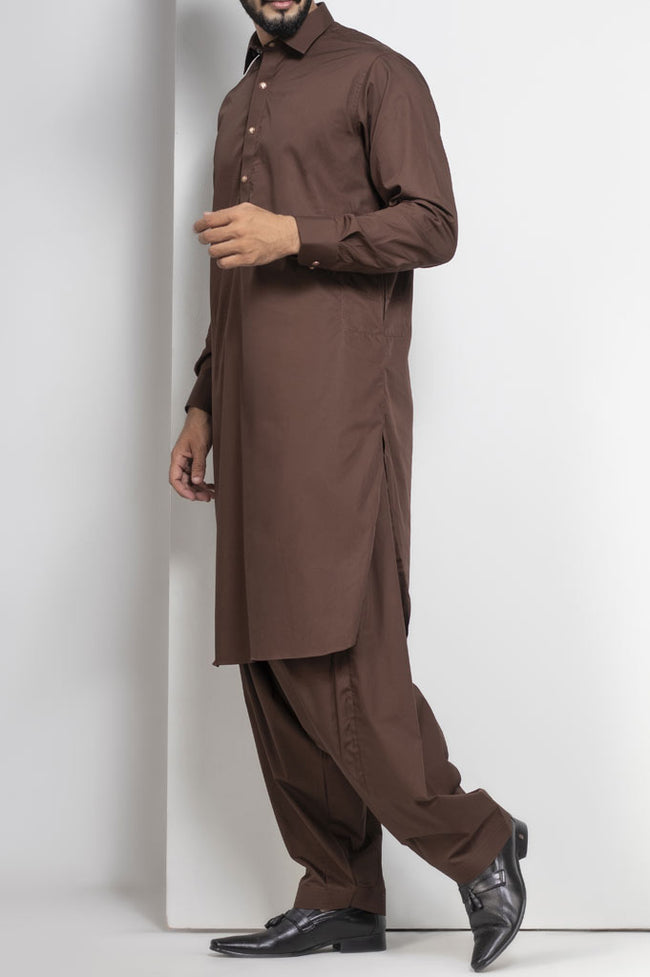 Formal Shalwar Suit for Men SKU: EG2656-Brown