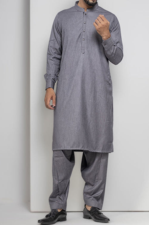 Formal Shalwar Suit for Men SKU: EG2659-Grey