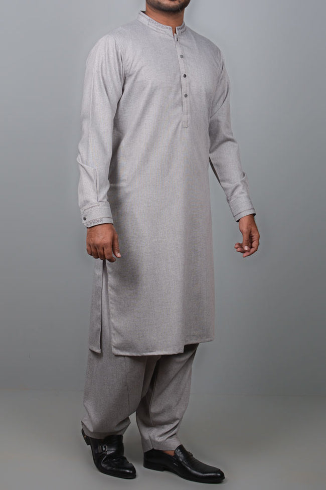 Formal Shalwar Suit for Men SKU: EG2679-L-Grey