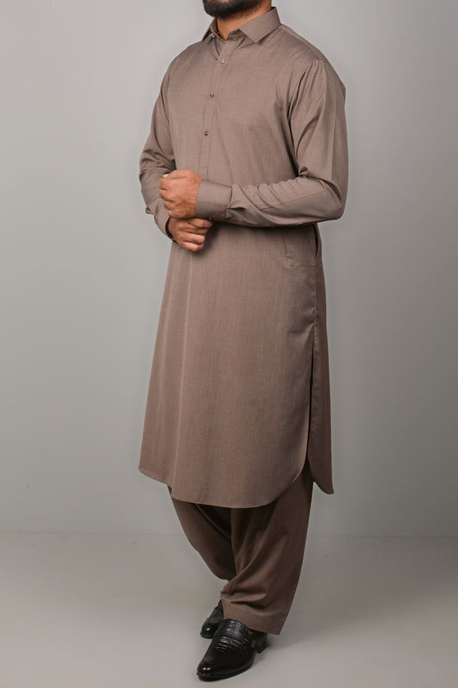 Formal Shalwar Suit for Men SKU: EG2687-Brown