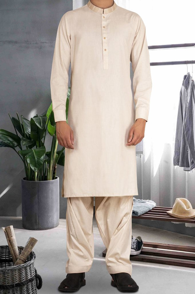 Formal Shalwar Suit for Man SKU: EG2708-Fawn - Diners