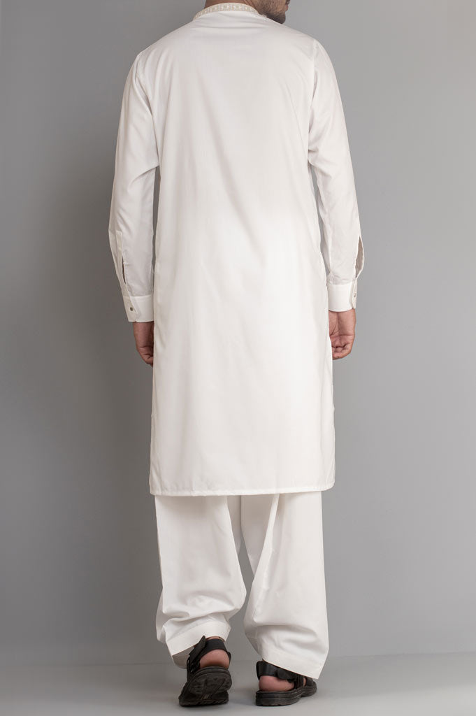 Formal Shalwar Suit for Men SKU: EG2713-Off White - Diners
