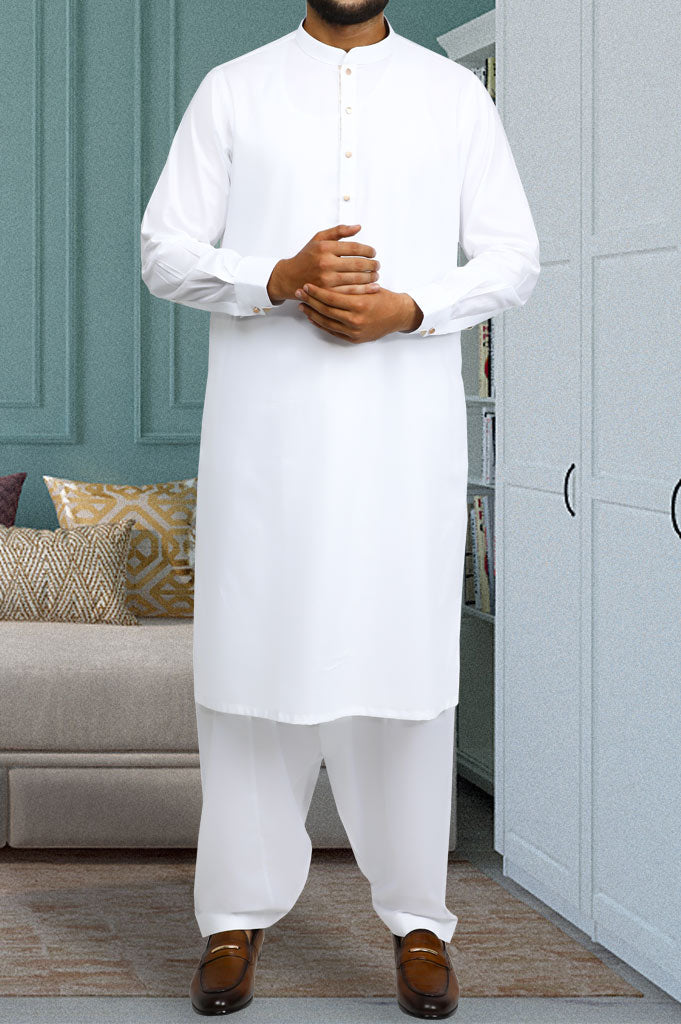 Formal Shalwar Suit for Men SKU: EG2724-White - Diners