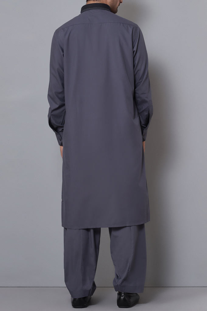 Formal Shalwar Suit for Men SKU: EG2741-Grey - Diners