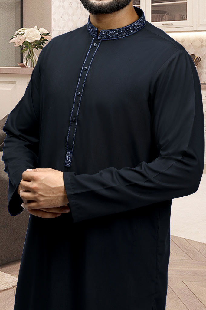 Formal Shalwar Suit for Men EG2781-Black