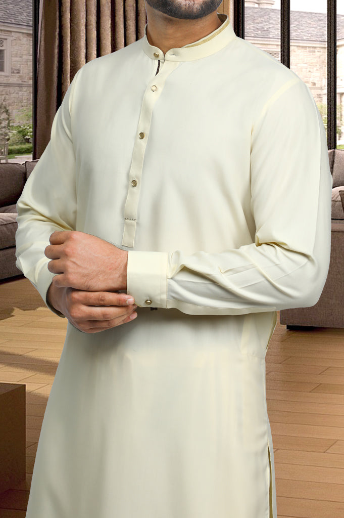 Formal Shalwar Suit for Man EG2827-Cream - Diners