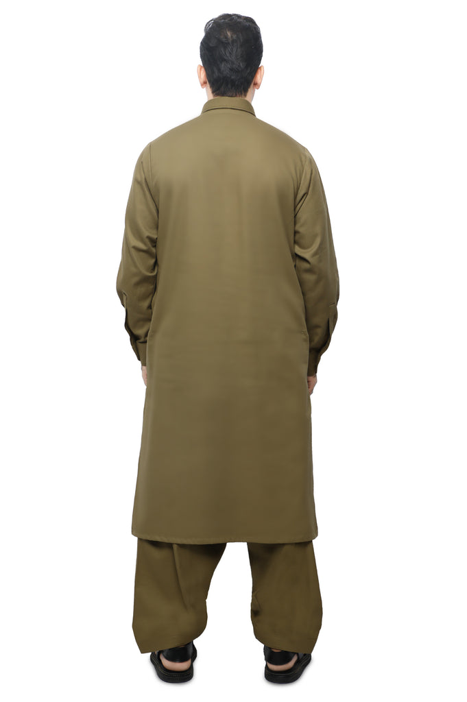 Formal Shalwar Suit for Men SKU: EG2847-D-FAWN - Diners