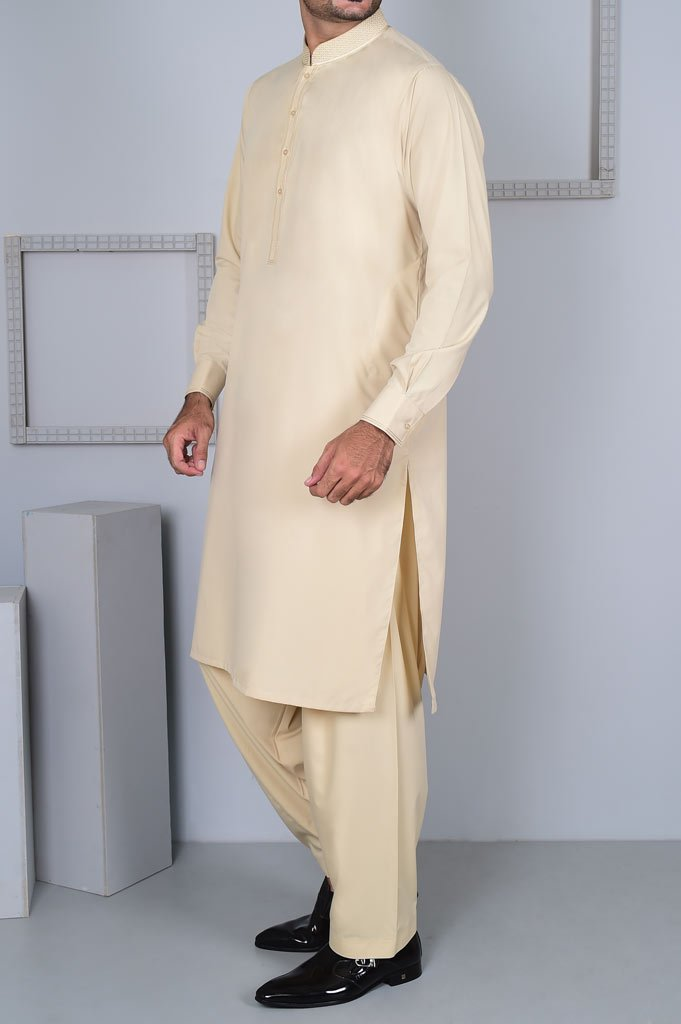 Formal Shalwar Suit for Man EGC0001-FAWN - Diners