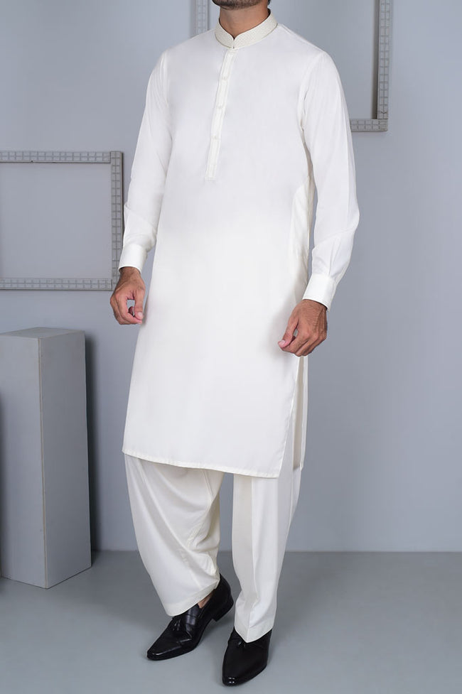 Formal Shalwar Suit for Men EGC0001-OFFWHITE