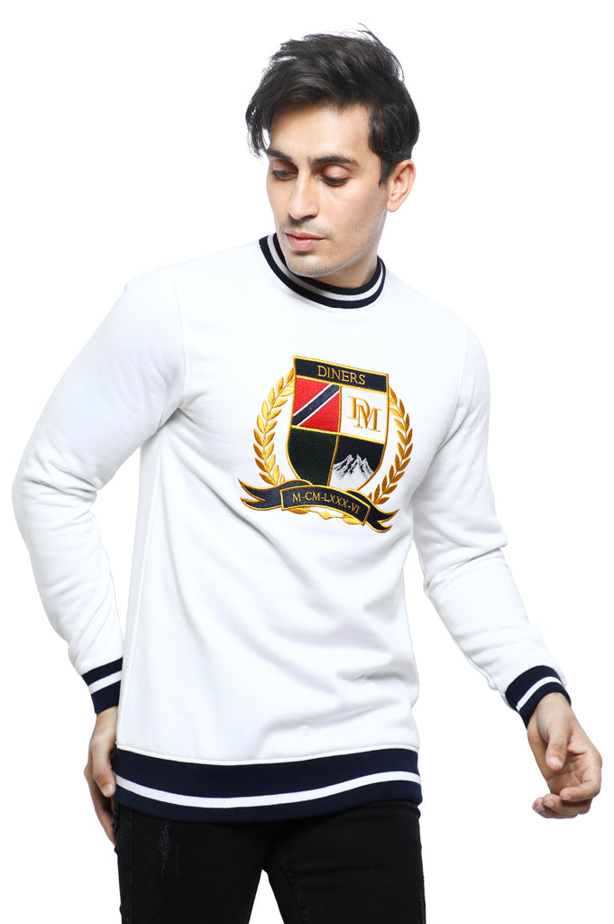 Diner's Men's Sweat Shirt SKU: FA913-WHITE