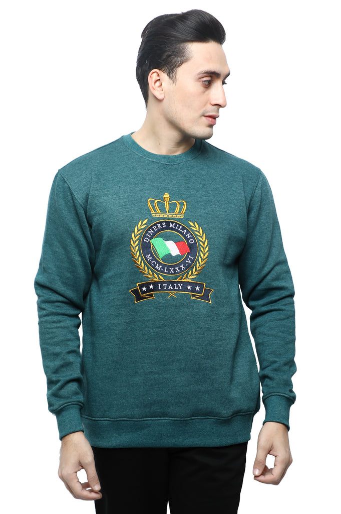 Diner's Men's Sweat Shirt SKU: FA917-TEAL - Diners