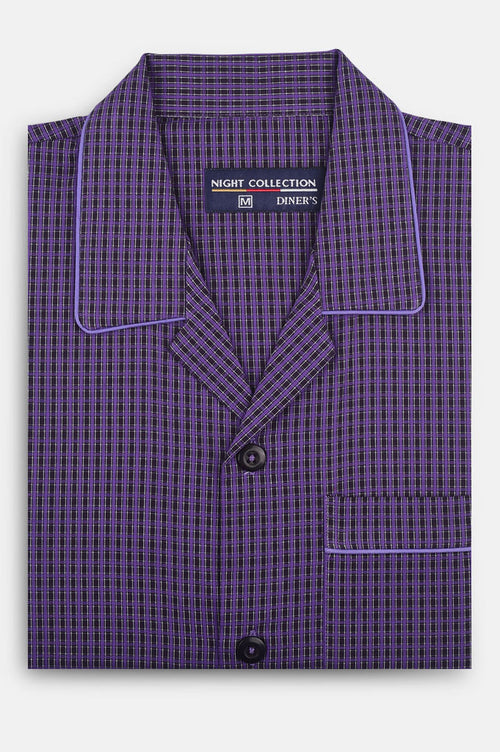 Diner's Night Suit In D-Purple SKU: FAC0295-D-Purple
