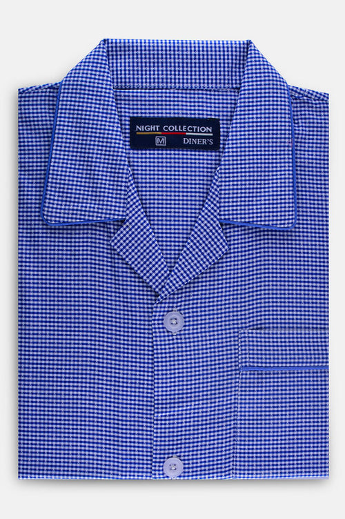 Diner's Night Suit In D-Blue SKU: FAC0463-D-BLUE