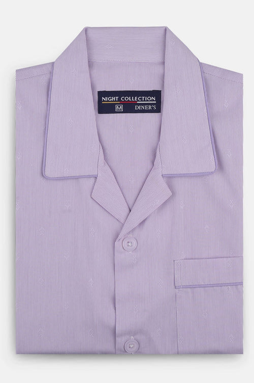 Diner's Night Suit In L-Purple SKU: FAD0464-L-Purple