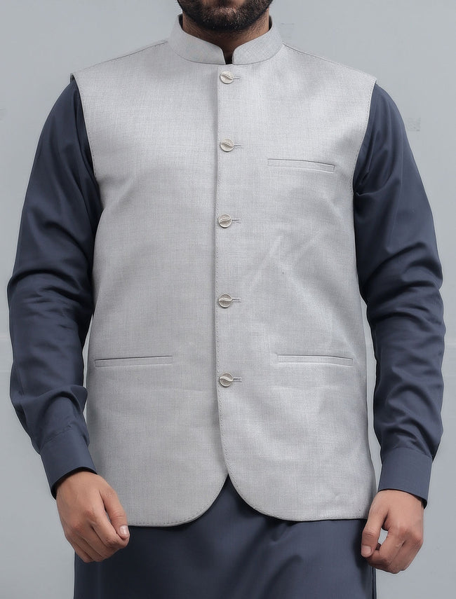 Waist coat For Men In L-Grey SKU: GA3331-L-Grey