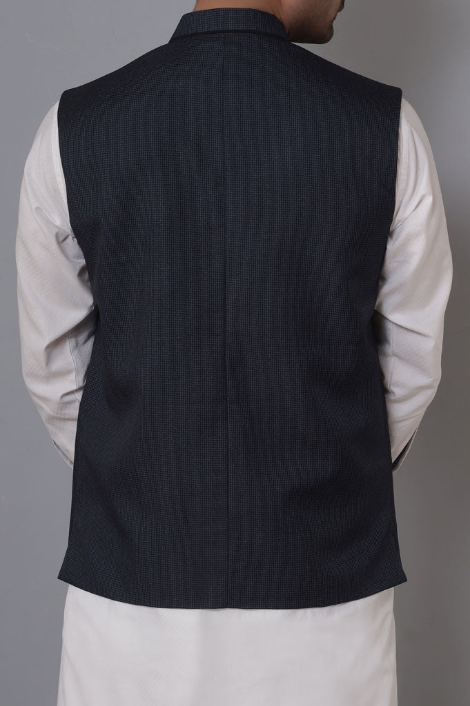 Waist coat For Men SKU: GA3356-Blue - Diners