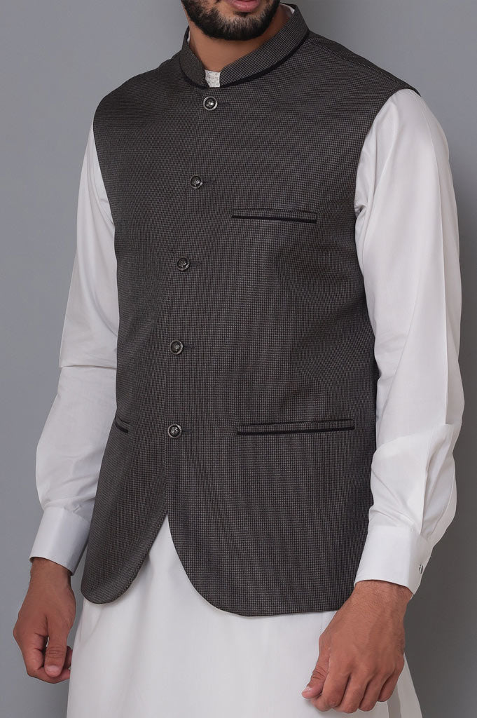 Waist coat For Men SKU: GA3356-Grey