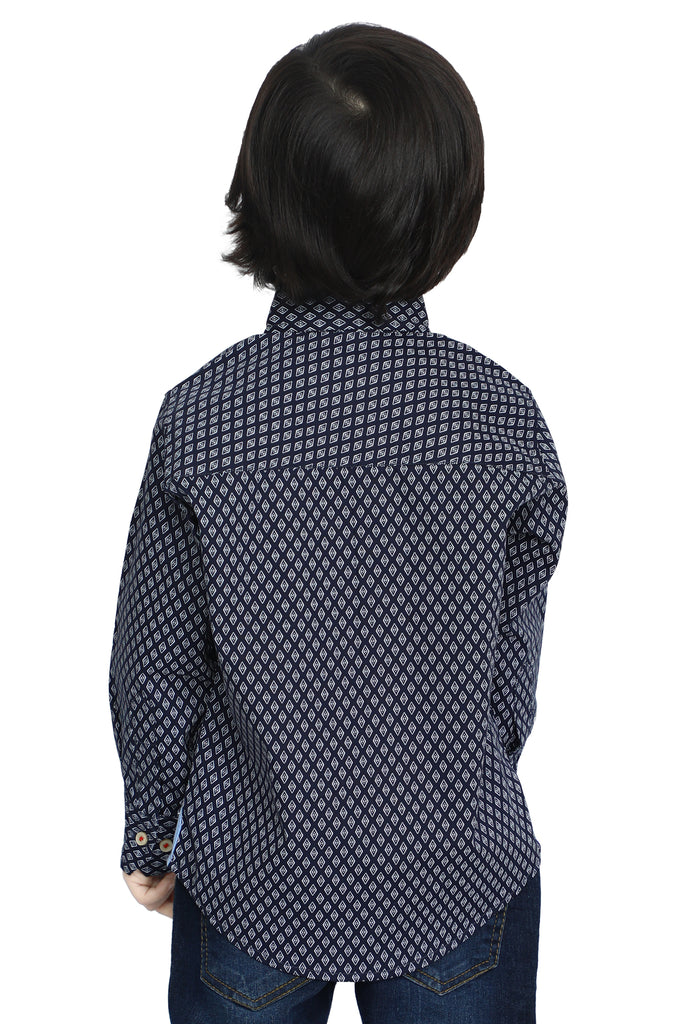 Boys Toddler Casual Shirt In Black SKU: IBB-0014-BLACK - Diners