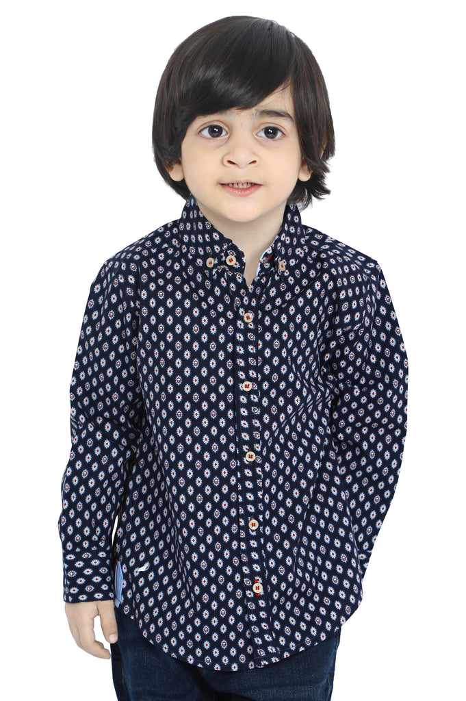 Boys Toddler Casual Shirt In Navy SKU: IBB-0028-NAVY - Diners