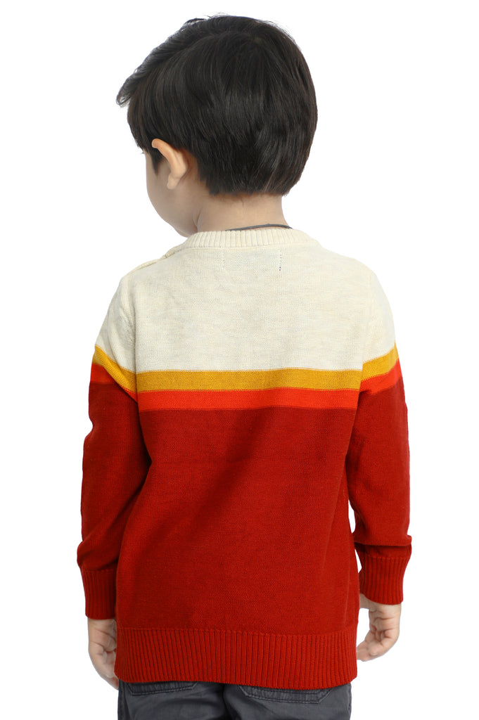 Boys Toddler Sweater In Rust SKU: IBE-0005-RUST - Diners