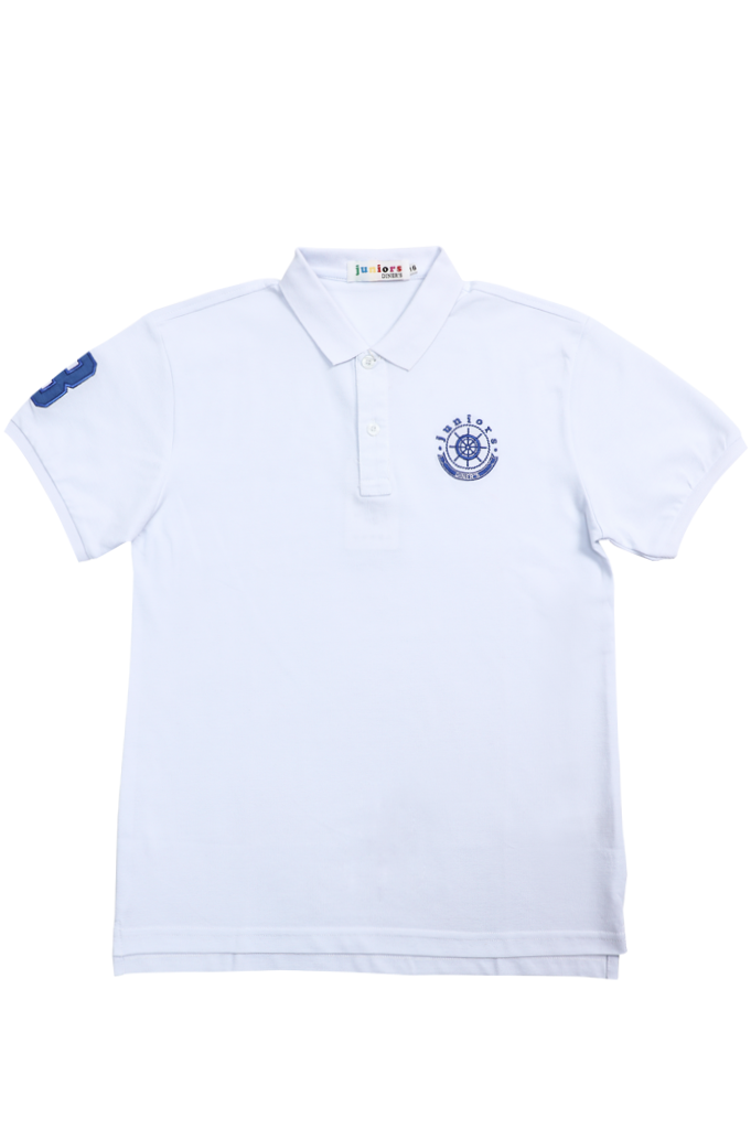 Boys Polo T-Shirt In White SKU: KBA0142-White
