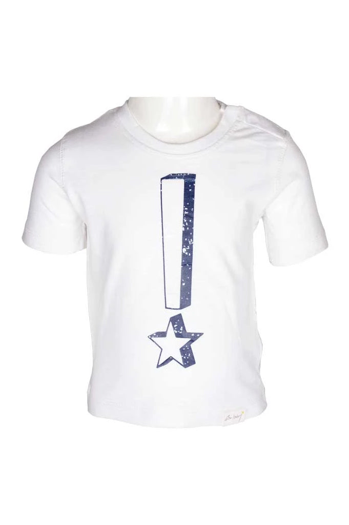 Boys Round Neck T-Shirt In White SKU: KBA-0144-WHITE