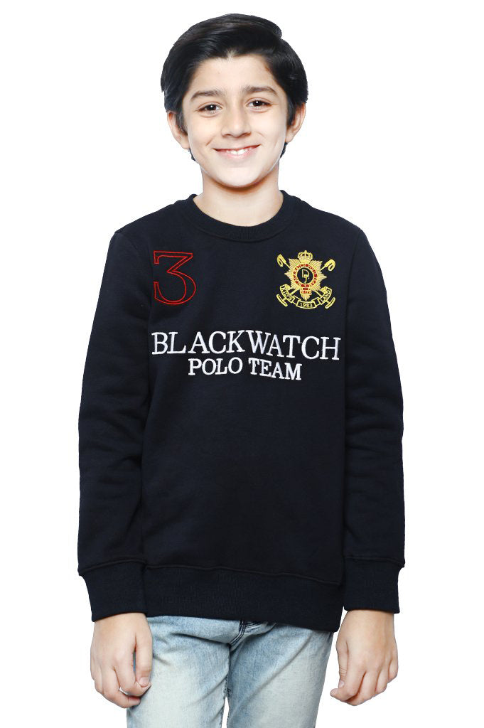 Boys Sweat Shirt In Navy SKU: KBA-0171-NAVY - Diners