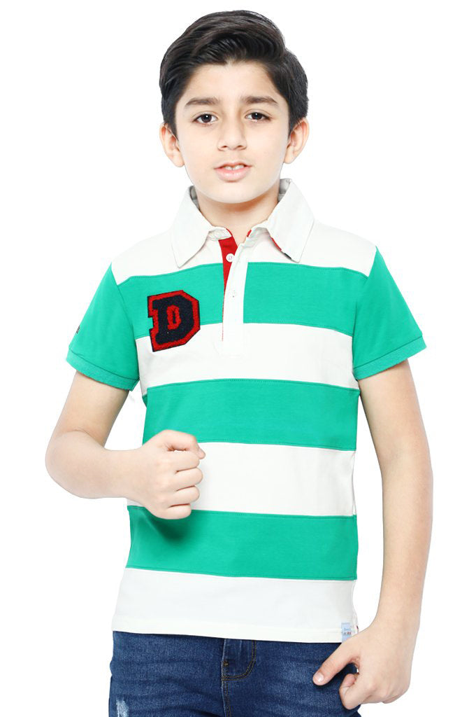 Boys Polo T-Shirt In Green KBA-0172 - Diners