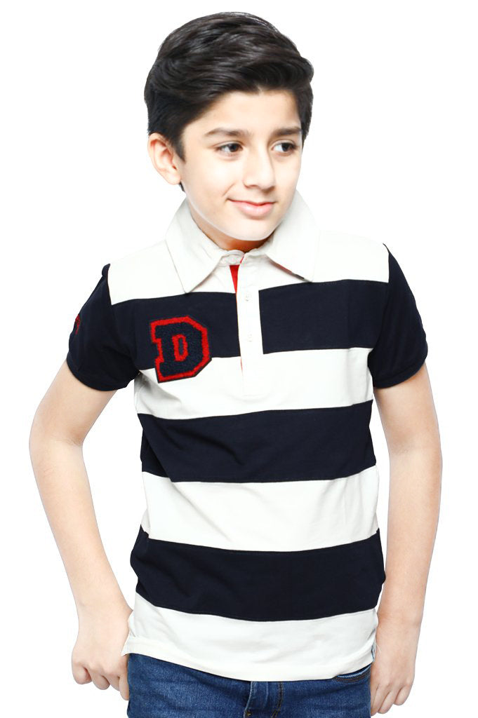 Boys Polo T-Shirt In Navy KBA-0172 - Diners
