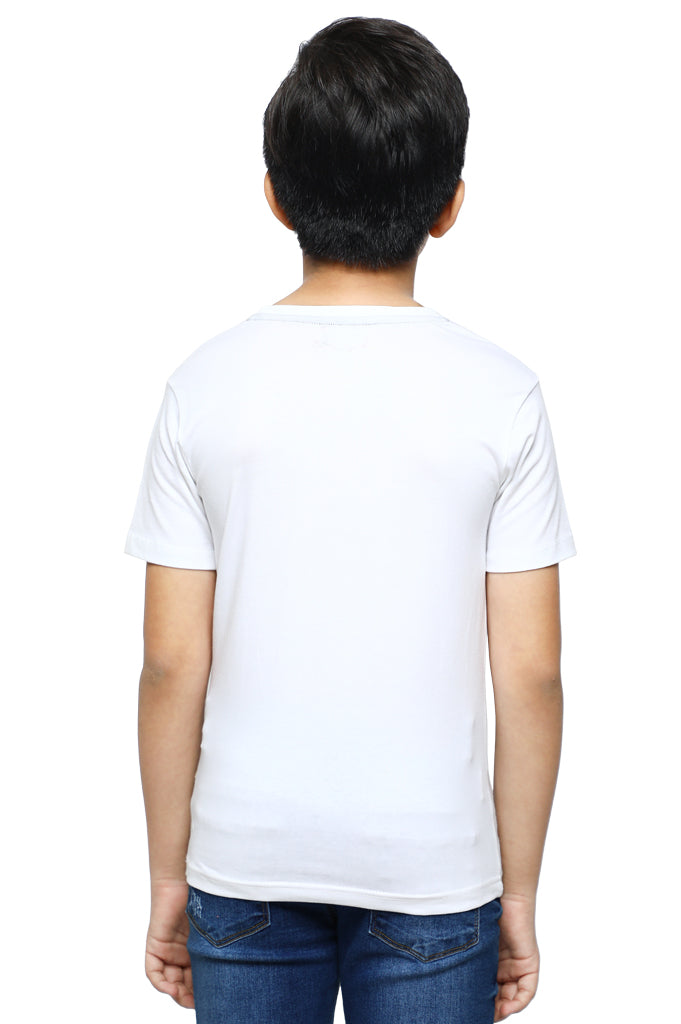 Boys Round Neck T-Shirt In WHITE SKU: KBA-0194-WHITE - Diners