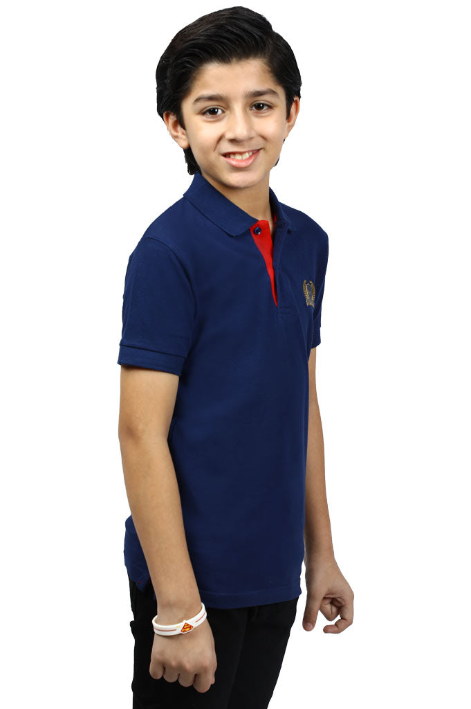 Boys T-Shirt In Navy KBA-0238