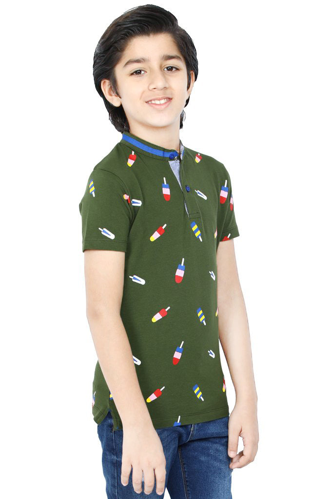 Boys T-Shirt In Olive KBA-0245 - Diners