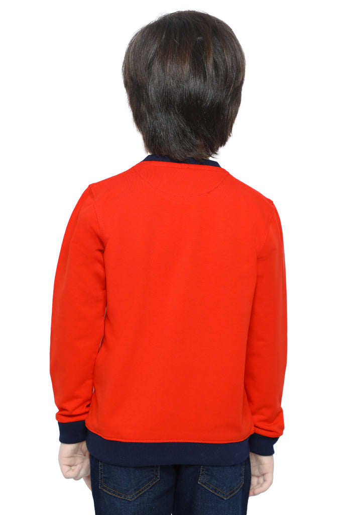 Boys Sweat Shirt In Red SKU: KBA-0269-RED - Diners