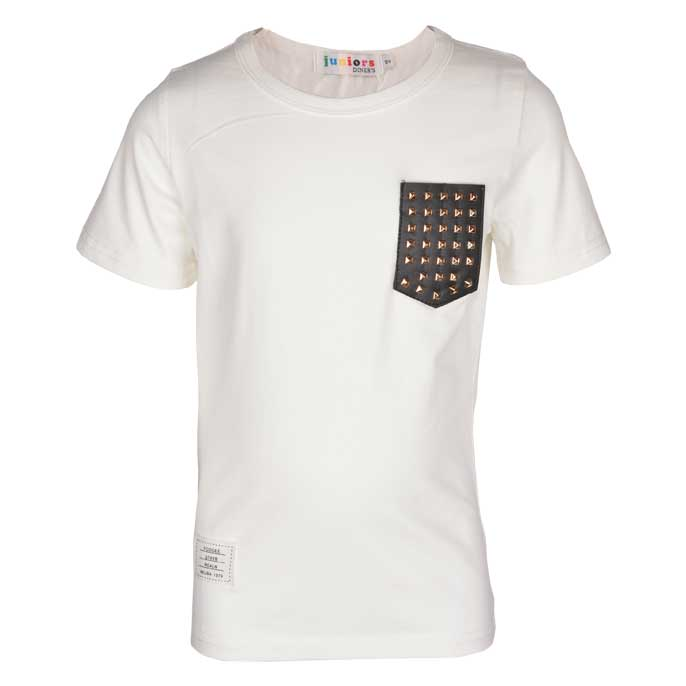 Boys Round Neck T-Shirt In White SKU: KBA0145-White
