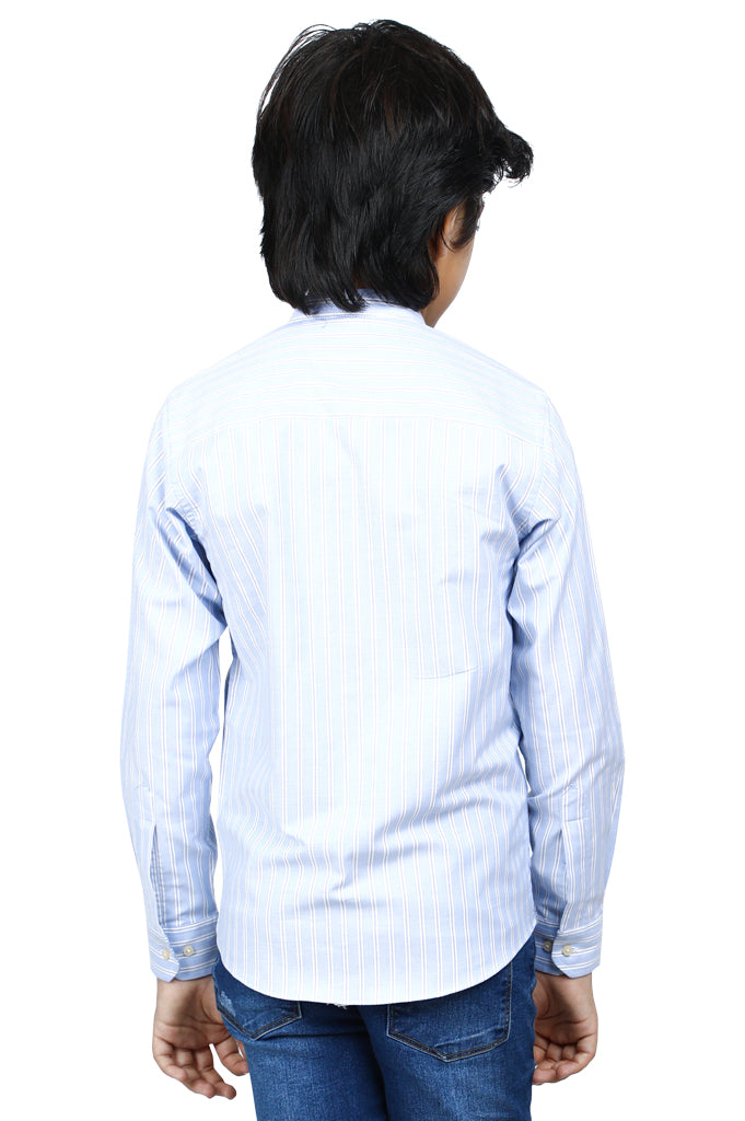 Boys Casual Shirt In Blue SKU: KBB-0253